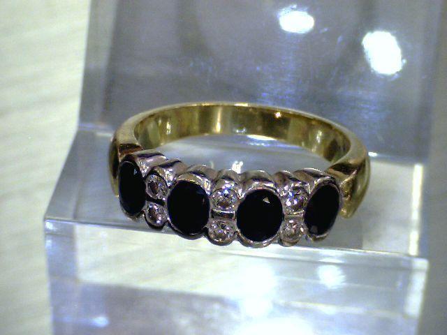 eleganter ring mit brillanten ca 0 18 ct und farbsteinen 750 gg. Black Bedroom Furniture Sets. Home Design Ideas