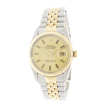 ROLEX Herrenarmbanduhr Datejust Stahl / Gold Automatik Full Set