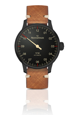 MeisterSinger No.03 Blackline Herrenuhr Automatik AM902BL