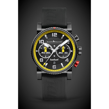 HANHART Black Falcon Primus Race Winner Herrenuhr Limited
